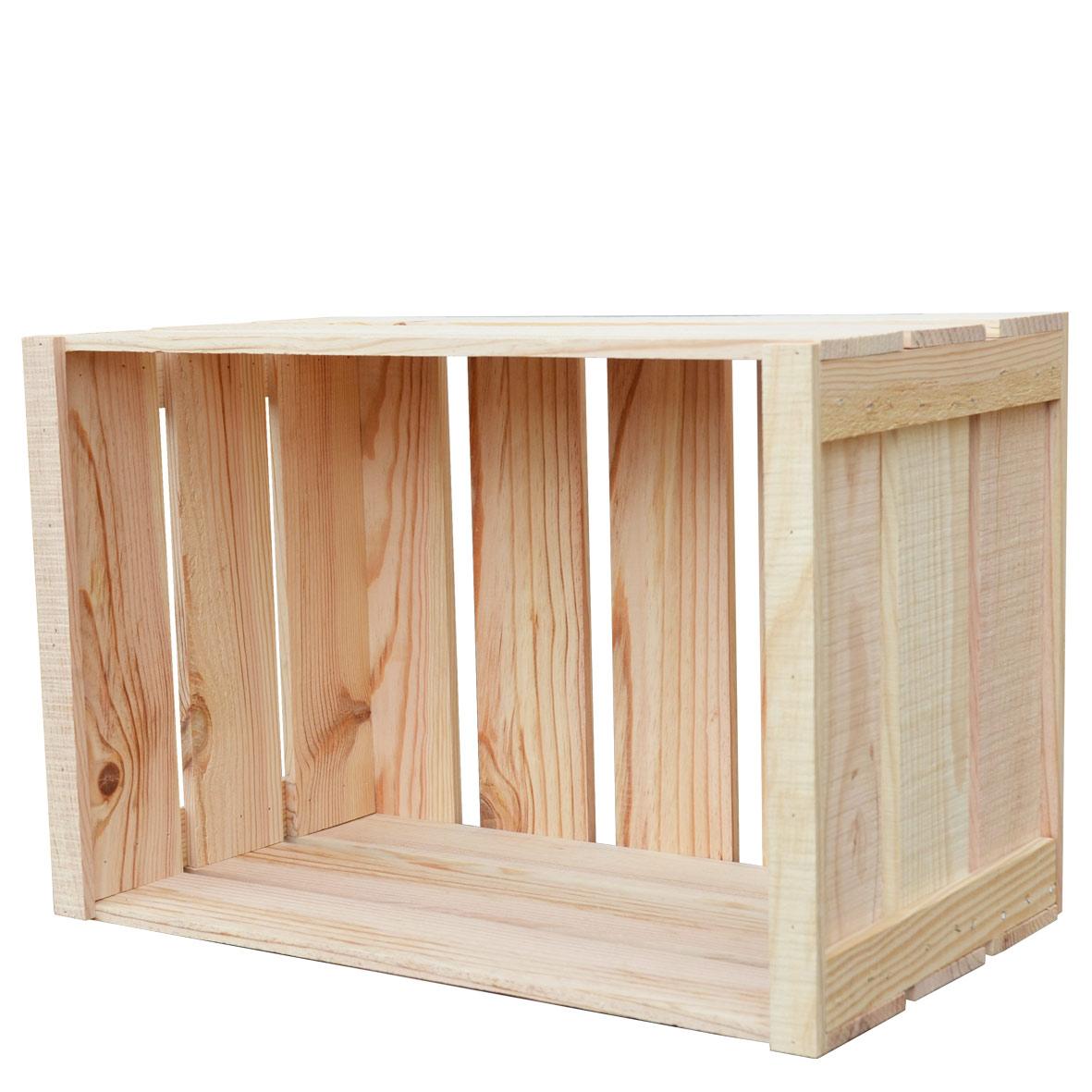 caisse 70 litres en pin. Black Bedroom Furniture Sets. Home Design Ideas